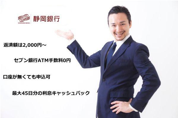 静岡銀行カードローン(セレカ)紹介